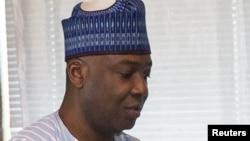 Le président du Sénat nigérian Bukola Saraki, troisième personnalité la plus importante du Nigeria