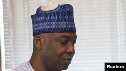 Le président du Sénat nigérian Bukola Saraki, 3 novembre 2015.