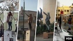 برخورد با «دختران خیابان انقلاب» از موارد طرح شده در این گزارش است.