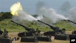 지난 7월 타이완 군의 훈련 장면. (자료사진)