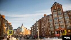 地处北极圈内的俄罗斯现代化城市沙尔哈德