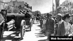 Qızıl Ordu Təbriz küçələrində - Sentyabr 1941