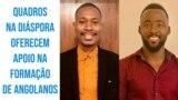 Adelino Bimba, presidente da AQDAFA, e Eduardo Ngudiangani, coord. do Dep. de Engenharia Informática