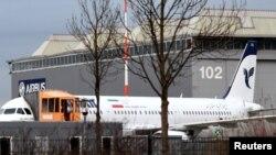 Un Airbus A321 avec le drapeau iranien le 19 décembre 2016.