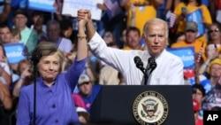 Hillary Clinton resaltó los valores de Joe Biden y prometió que der presidenta, el actual vicepresidente de EE.UU. seguirá a la cabeza del proyecto en la lucha contra el cáncer.