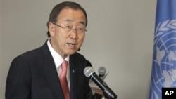 Sekjen PBB Ban Ki-moon mendukung perjanjian damai di DRC timur baru-baru ini (foto: dok).