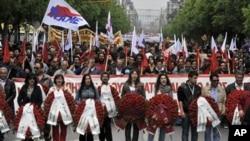 Μικρότερη απ' την συνηθισμένη η φετινή συμμετοχή στις συγκεντρώσεις για τον εορτασμό της Πρωτομαγιάς