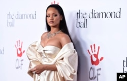 Rihanna attends the 2nd Annual Diamond Ball at The Barker Hangar on December 10, 2015 in Santa Monica, Calif.