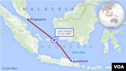 QZ8501 Flight Path