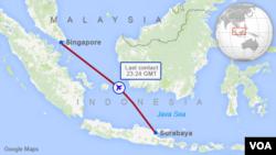 QZ8501 Flight Path