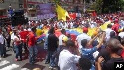 La oposición convocó a otra manifestación programada para el siete de septiembre. [Foto: Alvaro Algarra, VOA].