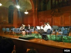 Playing in the Chamber Music Society at Phillips Academy