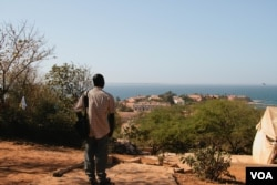 Mouhamadou Diouf on the island of Gorée in the Atlantic Ocean.