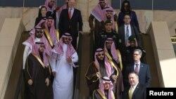 El secretario de Estado de EE.UU., Mile Pompeo, se reunió el lunes 14 de enero de 2018 con autoridades saudíes como parte de la visita que realiza a Medio Oriente.