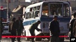 خودکش حملے کا نشانہ بننے والی بس