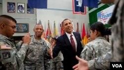 El presidente Barack Obama agradeció a las tropas y expresó su orgullo como comandante en jefe de las fuerzas estadounidenses.