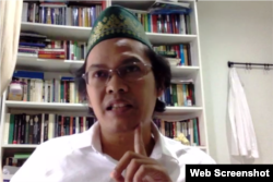 Peneliti Lembaga Ilmu Pengetahuan Indonesia (LIPI) Ahmad Najib Burhani.(Foto screenshot)