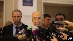 Cố Tổng thống Israel, Shimon Peres có một bài phát biểu ngắn tại Diễn đàn Kinh tế Thế giới diễn ra tại South Shuneh, Jordan, ngày 26 tháng 05 năm 2013.