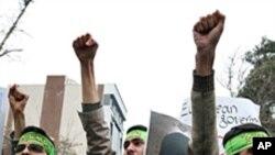 تہران میں یورپی سفارت خانوں کے سامنے احتجاجی مظاہرے