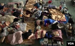 Para warga yang mengungsi dari Okuma ini mengaku tak pernah mendukung pembangunan PLTN di daerah mereka.