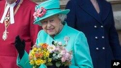 Nữ hoàng Elizabeth tại Cung điện Windsor, ngày 16/4/2017.