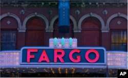 Here's the marquee sign from the old Fargo Theater in the North Dakota town of the same name - named for one of the Wells Fargo partners.
