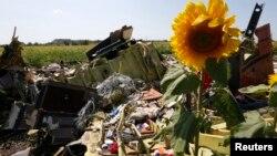 ပစ္ခ်ခံလိုက္ရတဲ့ မေလးရွားေလးေၾကာင္း MH17 ရဲ႕ အပ်က္အစီးမ်ား။ (ဂ်ဴလုိင္ ၂၆၊ ၂၀၁၄)