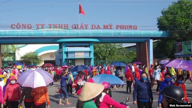 Công ty Giày da Mỹ Phong (Trà Vinh). Photo Zing