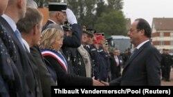François Hollande en déplacement à Calais, le 26 septembre 2016
