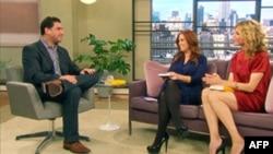 Дэвид Боргеникт в телестудии