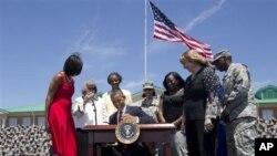 Presiden Obama di Fort Stewart, Georgia (27/4)