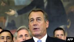Chủ tịch Hạ viện John Boehner phát biểu trong 1 cuộc họp báo tại Điện Capitol ở Washington, 20/12/2011