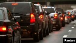 Kemacetan di jalan layang New York City (Foto: dok).