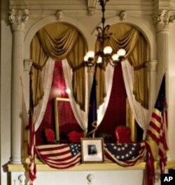 The presidential box at Ford's Theatre where Abraham Lincoln was shot.