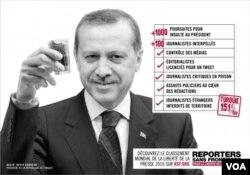 RSF Erdogan û jimareke rêberên din protesto dike