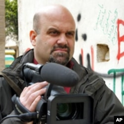 VOA correspondent Phil Ittner while on assignment in Benghazi, Libya