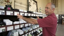 Paul Wallace of Petaluma Seed Bank looks at heirloom seeds. Many are traditional varieties passed down from generation to generation.