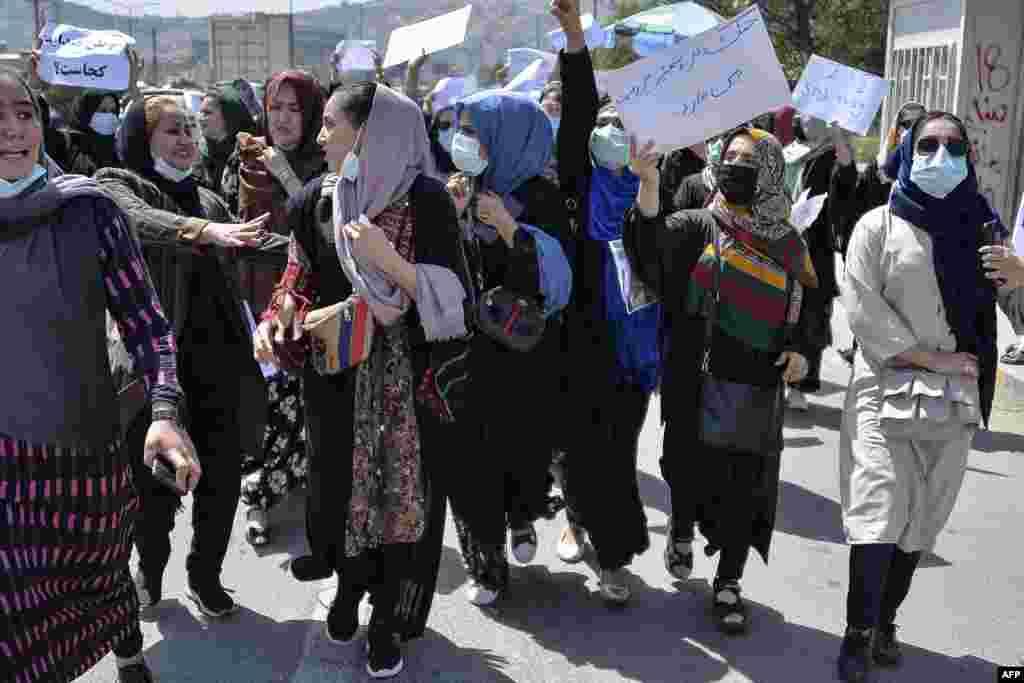 کابل پر پندرہ اگست کو طالبان کے قبضے کے بعد خواتین کی جانب سے کئی بار احتجاج کیا گیا ہے۔
