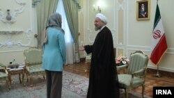 Rouhani da Fedrica Mogerini a Iran