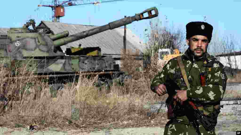 Sojojin Rasha kusa Donetsk a Ukraine, Nuwamba 5, 2014.
