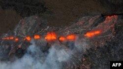 Извержение вулкана, Гаваи, 6 марта 2011г.