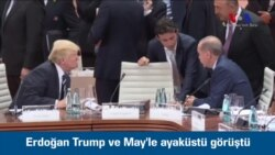 Erdoğan Trump ve May'le Ayaküstü Görüştü