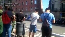 بارسلونا میں ویگن سے لوگوں کو کچلنے کے بعد کا منظر