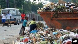 Children sift through garbage at a dump site in Harare, February 21, 2011 (File photo)