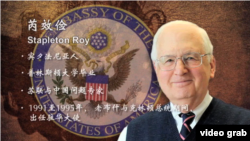 美国前任驻华大使芮效俭(J. Stapleton Roy)
