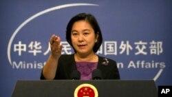 Phát ngôn viên của Bộ Ngoại giao Trung Quốc Hoa Xuân Oánh cáo buộc Mỹ thổi phòng mối đe dọa từ Trung Quốc đối với các hệ thống phòng thủ trong không gian của Mỹ.