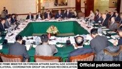 """Các giới chức cấp cao của Afghanistan, Pakistan, Hoa Kỳ và Trung Quốc, tại cuộc họp mới nhất ở Islamabad, đã tán đồng một """"lộ đồ"""" cho hoà bình và loan báo rằng cuộc đàm phán trực tiếp giữa các phe lâm chiến ở Afghanistan sẽ diễn ra vào cuối tháng này."""