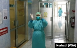 Simulasi rutin dilakukan RS Sardjito, terutama menghadapi airborne disease seperti virus corona. (Foto: VOA/ Nurhadi)