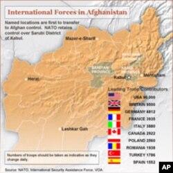 A presença militar no Afeganistão dos diversos países