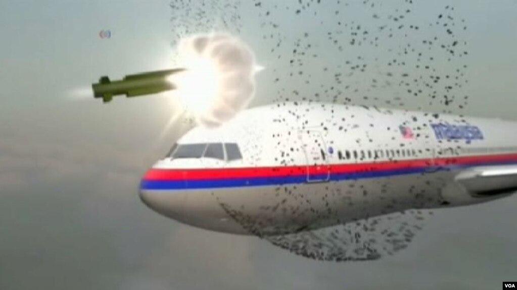 Hình ảnh tái hiện của chuyến bay MH17 của hàng không Malaysia khi bị tên lửa bắn trúng. Kể từ đó các nhà quản lý hàng không đã tăng cường kiểm soát các khu vực có xung đột.